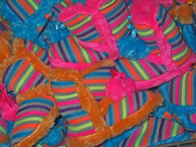 Chaussons colorés