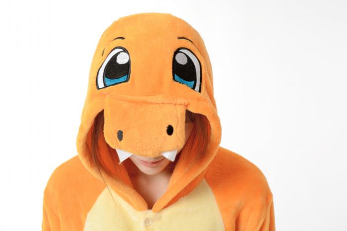 Grenouillère Pokemon Salamèche (capuche)