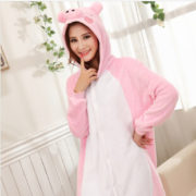 Pyjama Cochon rose (face)