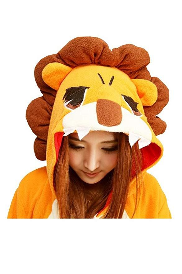 capuche pyjama lion