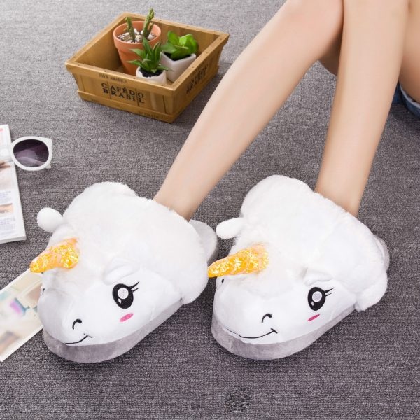 Chaussons Licorne en situation