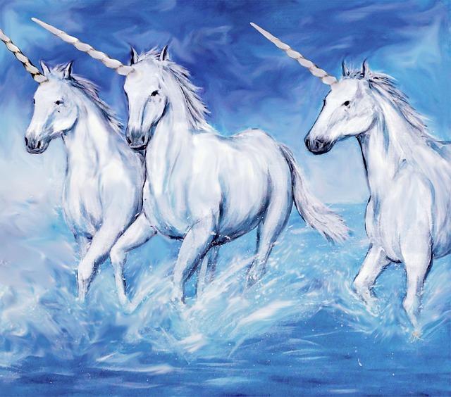 Peinture de Licornes