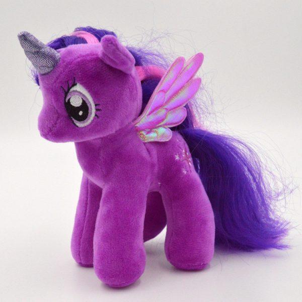 Peluche licorne violette