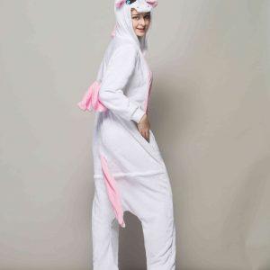 Pyjama Licorne rose fille de profil