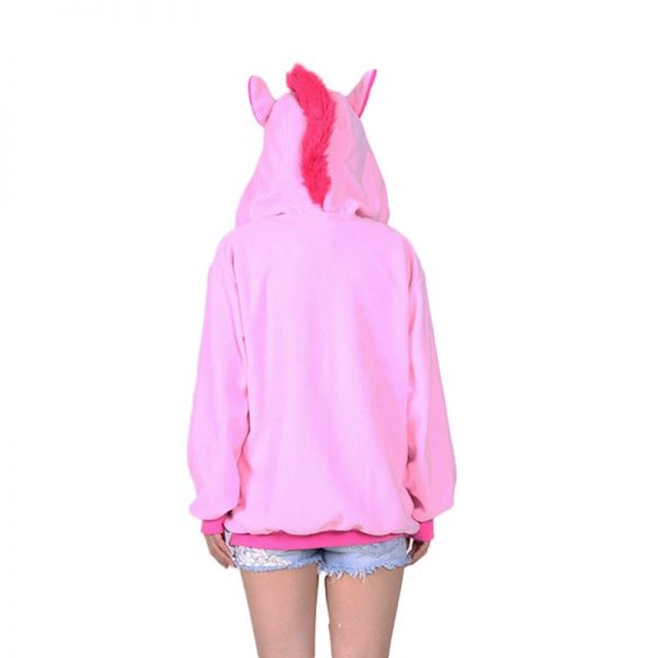 Sweat Licorne rose dos