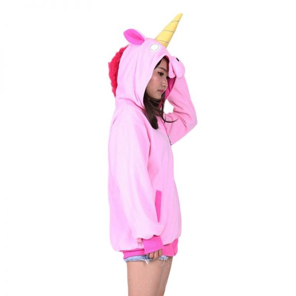 Sweat Licorne rose profil