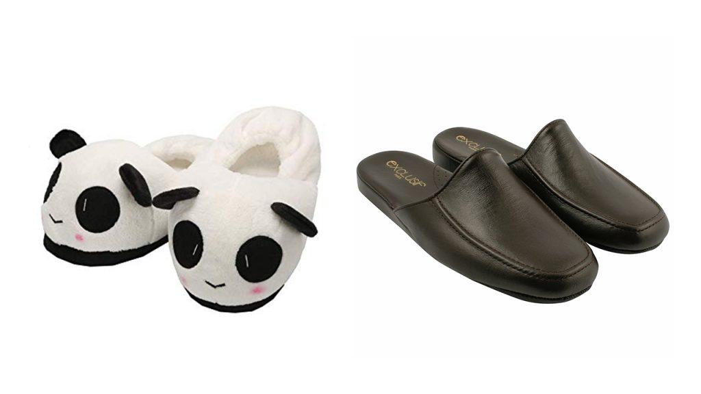 Les chaussons animaux VS classiques