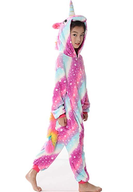 Pyjama licorne enfant (côté)