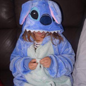 maman et sa chipie pyjama stitch