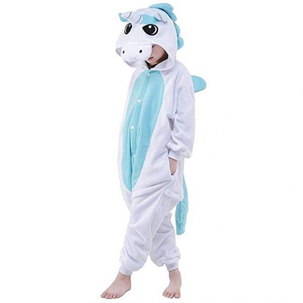 pyjama licorne bleu enfant (face)