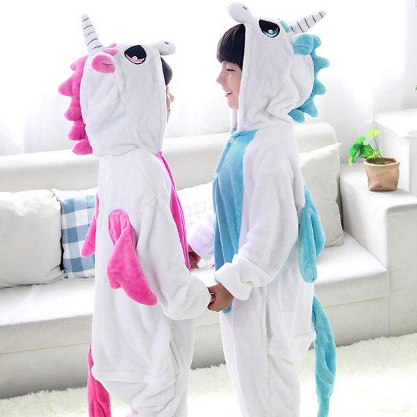 pyjama licorne enfant rose et bleu