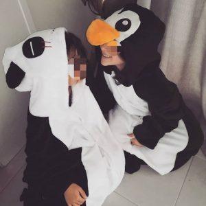 chouquette and coblog pyjama panda et pingouin