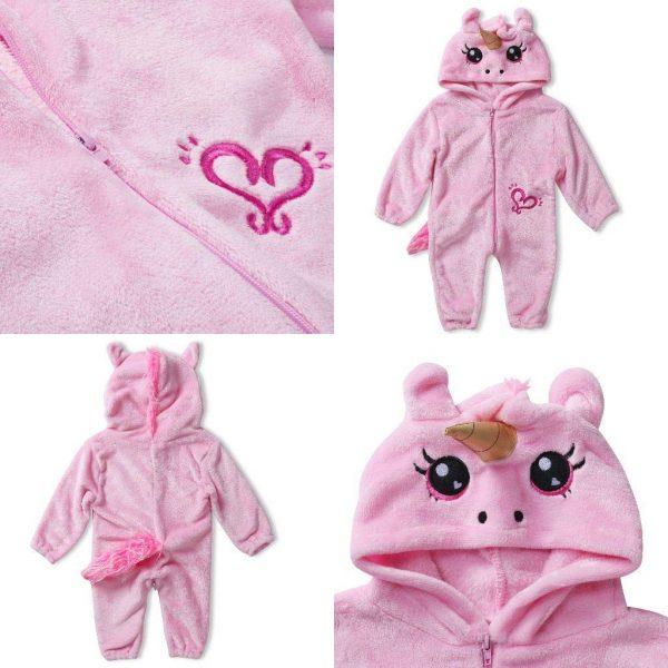 pyjama licorne bébé face