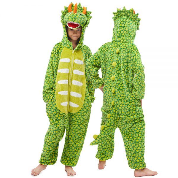 grenouillère pyjame dinosaure vert clair