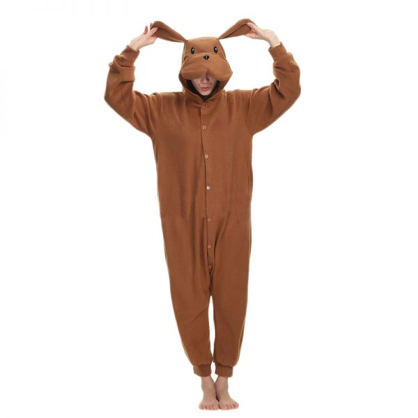 Grenouillère Pyjama Chien Marron foncé