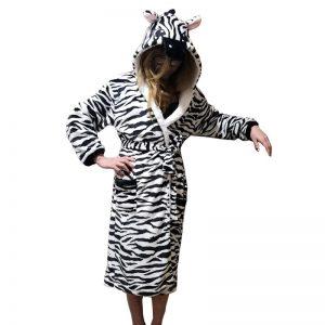 peignoir zebre