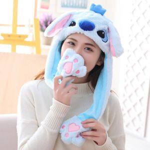 bonnet stitch bleu