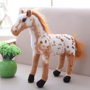 cheval blanc tacheté